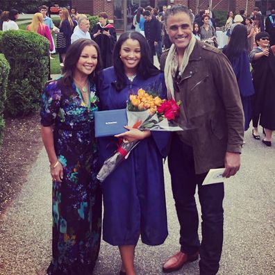 Rick Fox, Vanessa Williams, Sasha Fox, family photo, graduation
