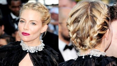 <p>Sienna again shows that the milkmaid look can be just as sultry as sideswept glamour.</p>