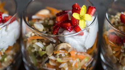Breakfast parfait with coconut cream recipe