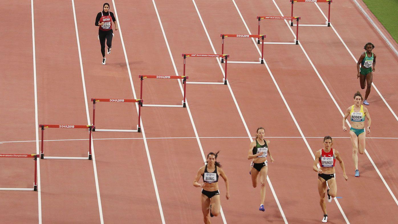 Mariam Mamdouh Farid, IAAF World Championships 2019, 400 metre women's  hurdles, Qatari hurdler breaks down barriers despite last place finish