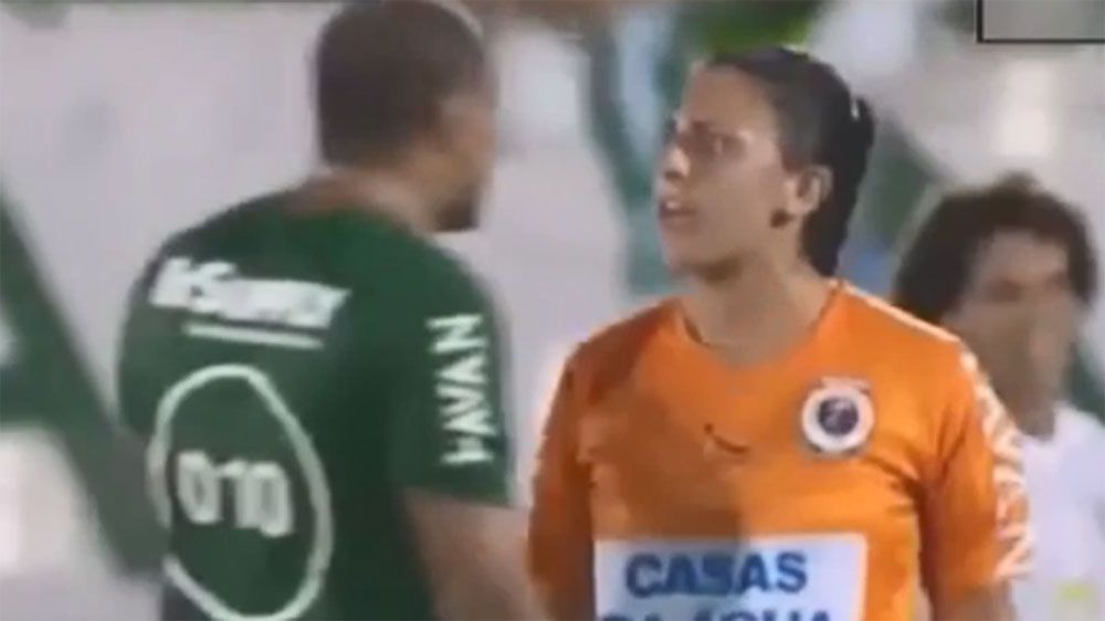 World Cup winner Denilson makes controversial gesture towards female lineswoman