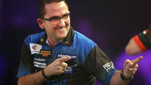 Ross Montgomery, a Scottish darts player, is believed to be the mystery man at the centre of Helen's claims. (Getty)