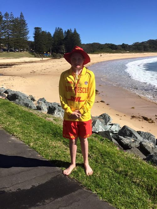 Lucas Kloosterhof was one of two teenagers to rescue a 19-year-old man who got caught in a rip. (Supplied)
