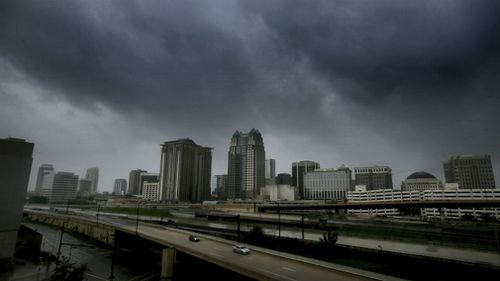 Ominous clouds over Orlando. (AAP)