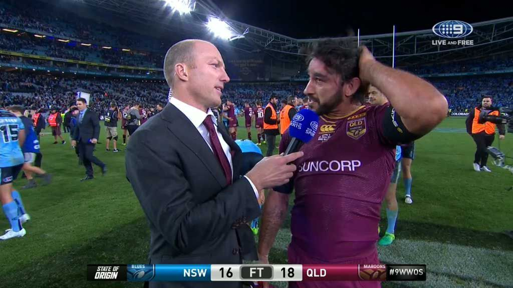Thurston speaks after victory