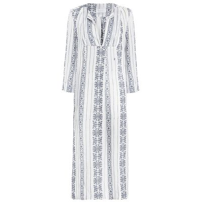 "<a href=""http://www.zimmermannwear.com/swim-and-resort/ryker-crosshatch-dress-blue-stripe.html"" target=""_blank"">Dress, $330, Zimmermann</a>"
