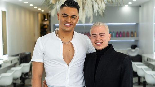Ayden Hawkins-Keen and Kaine Vakai, from Kaine Vakai Hair Artistry, say the planned client limit of five is not sustainable.