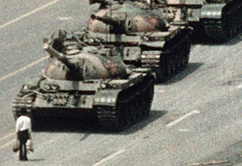 Tank Man in Tiananmen Square (Getty)