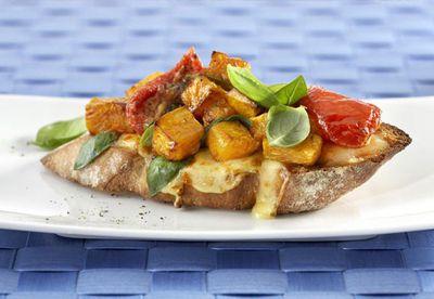 "Recipe:<a href=""http://kitchen.nine.com.au/2016/06/06/15/43/colby-roast-pumpkin-bruschetta"" target=""_top"">Colby roast pumpkin bruschetta</a>"