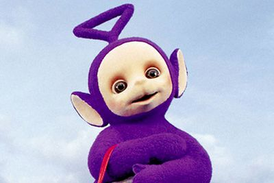 """Because a triangle is (apparently) a gay symbol, purple is (apparently) a gay colour and handbags are (apparently) gay accessories, religious nuts have accused this Teletubby of being gay. Officially, Tinky Winky is neither gay nor straight: he's """"a sweet, technological baby with a magic bag"""", according to the BBC."""