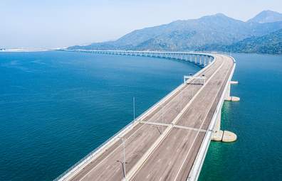 The Hong Kong–Zhuhai–Macau Bridge, world's longest sea bridge