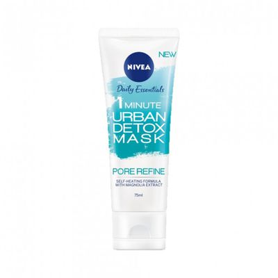 """<p><a href=""""https://www.priceline.com.au/brand/nivea/nivea-daily-essentials-1-minute-urban-pore-refining-mask-75-"""" target=""""_blank"""" title=""""Nive Daily Essentials 1 Minute Urban Pore Refining Mask 75ml, $6.99"""" draggable=""""false"""">Nive Daily Essentials 1 Minute Urban Pore Refining Mask 75ml, $6.99</a></p> <p>The self heating, translucent gel formula detoxifies skin by reducing stressors and urban pollutants = perfect fresh Spring skin.</p>"""
