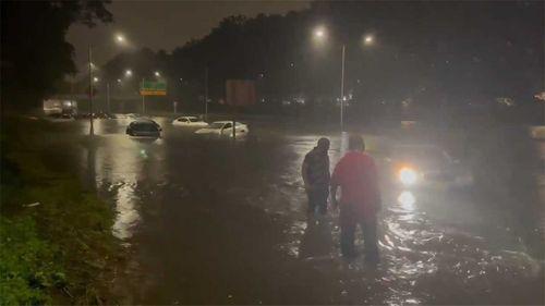 Hurricane Ida's remnants have caused heavy rainfall on the US east coast.