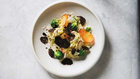 The Agrarian Kitchen's cabbage and root vegetable salad with truffle salad cream