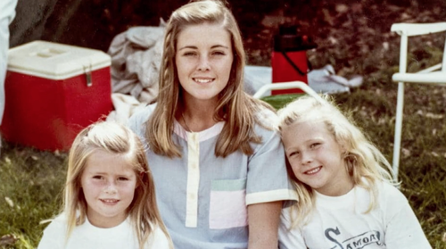 Lynette's husband Chris moved his 16-year-old lover (centre, with Dawson girls Sherrin and Shanelle) into the family home two days after Lynette vanished.