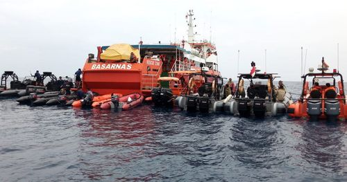 Sonar beacons have been deployed to find the black box recorders of the crashed plane.