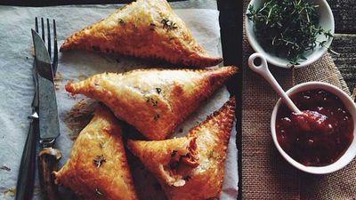 "Recipe: <a href=""http://kitchen.nine.com.au/2016/06/06/12/39/spanish-chicken-and-chorizo-pies"" target=""_top"">Spanish chicken and chorizo pies</a>"