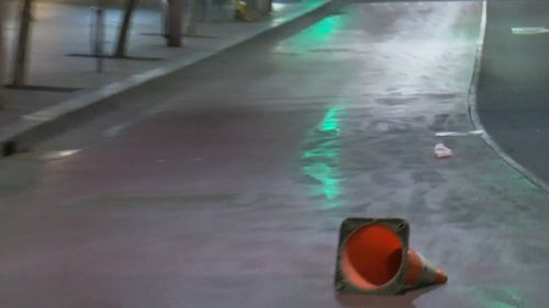 Winds ripped through Sydney's CBD, sending loose items flying through the city.