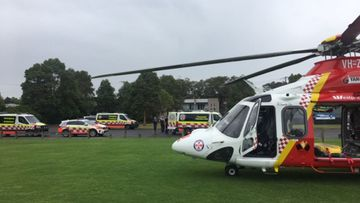 Emergency response arrive to treat a 12-year-old boy pulled unconscious from a NSW swimming pool.