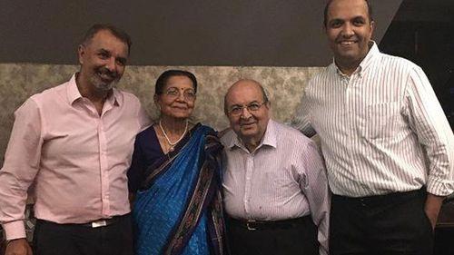 Raj Nathwani, his mother Kanchan, father Suryakant (Suri), and brother Manish