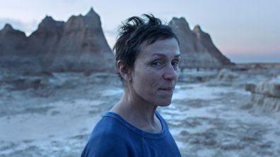 """Frances McDormand in a scene from the film """"Nomadland"""""""