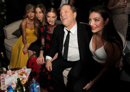 Recording artist Taylor Swift, musician Este Haim, actress Jaime King, producer Harvey Weinstein and recording artist Lorde attend The Weinstein Company & Netflix's 2015 Golden Globes After Party.