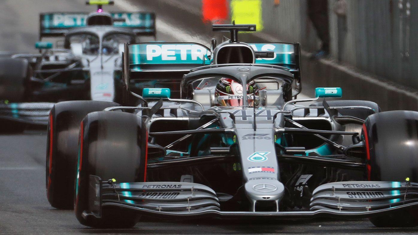 Lewis Hamilton (44) and Valtteri Bottas