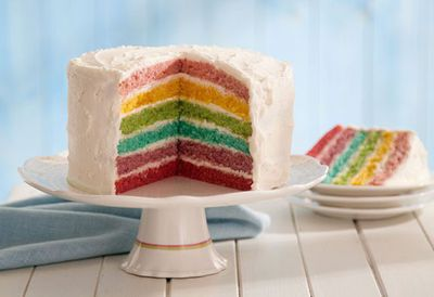 "Recipe: <a href=""http://kitchen.nine.com.au/2016/05/20/10/49/rainbow-layer-cake"" target=""_top"">Rainbow layer cake</a>"