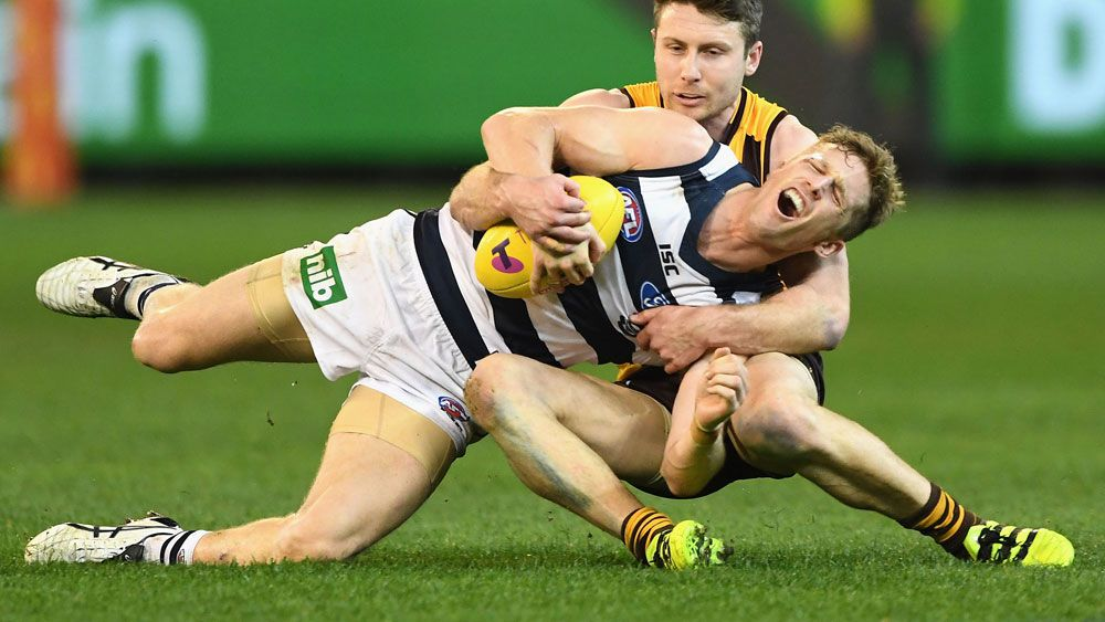 Cats stun Hawks to seal AFL prelim berth