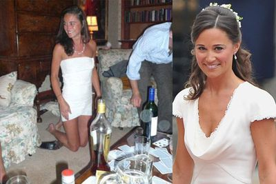 The Duchess of Cambridge's sister. In a toilet paper dress.