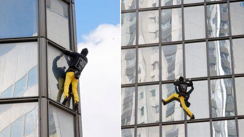 Real-life 'Spiderman' scales Paris skyscraper