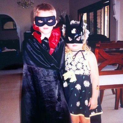 These little Aussie siblings are true Bat-kids.