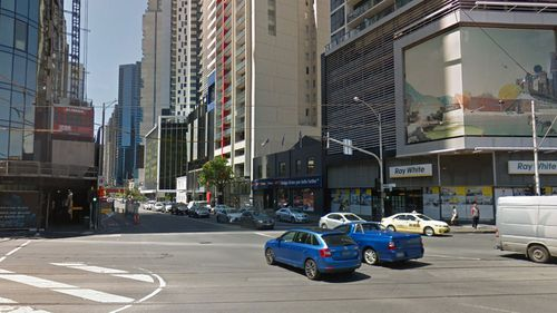 A man was attacked on the corner of City Road and Clarendon Street in Melbourne's Southbank.
