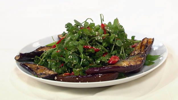 Bbq miso eggplant