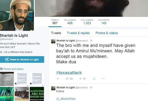 A Twitter account, believed to be Simpson's. He reportedly posted about the attack before it occurred. (Supplied)