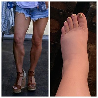 Jessica Simpson (who is currently pregnant and a little swollen)