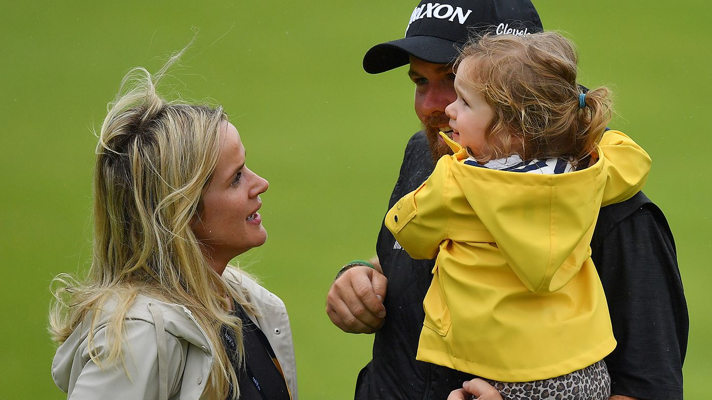 Shane Lowry with his wife Wendy Honner and daughter Iris in 2019.