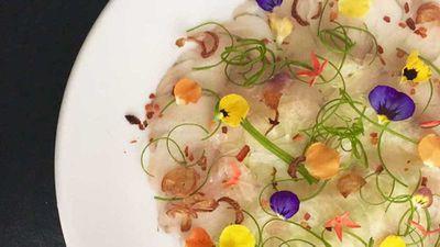 "Recipe:<a href=""http://kitchen.nine.com.au/2017/08/11/17/07/willin-low-barramundi-carpaccio-with-calamansi-chilli-dressing"" target=""_top"">Willin Low's barramundi carpaccio with calamansi chilli dressing</a>"