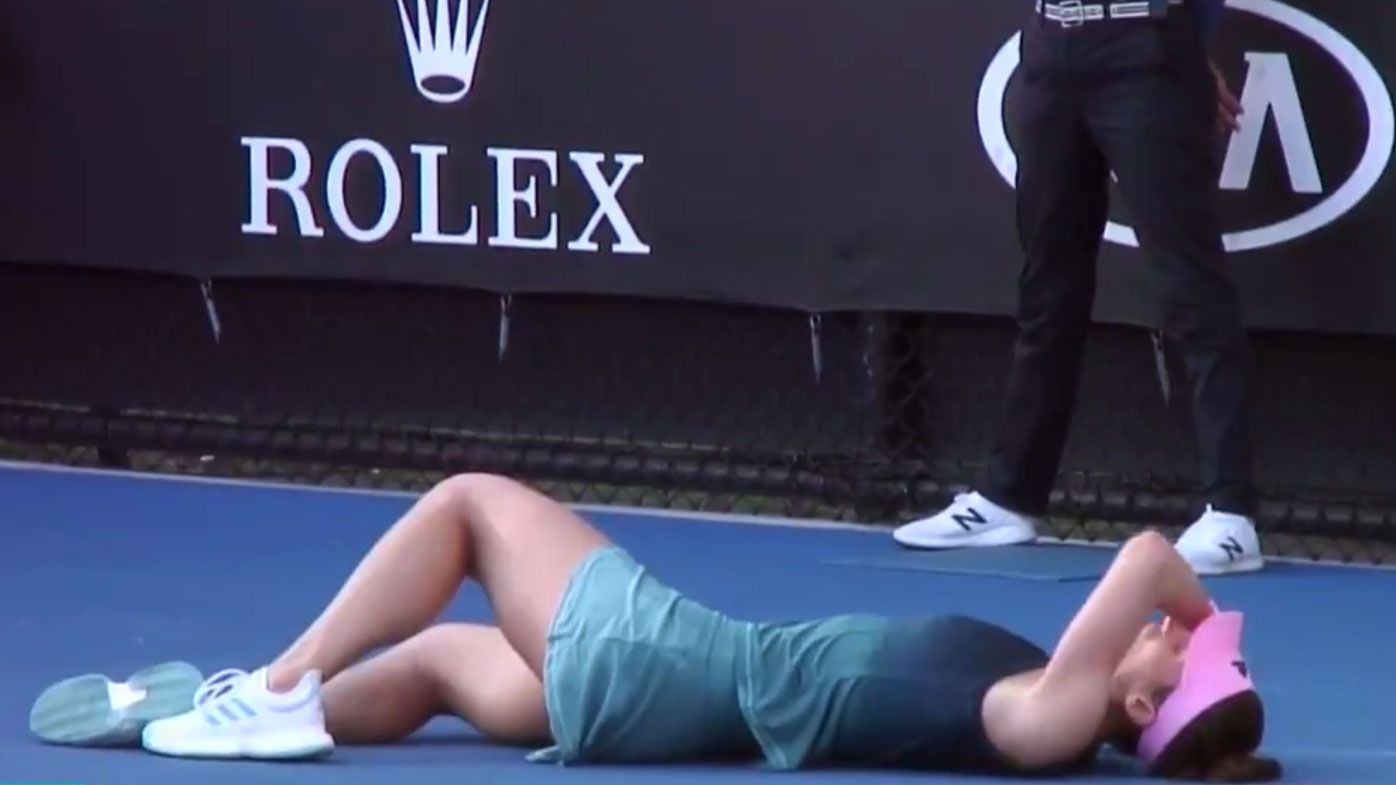 Australian Open: German Andrea Petkovic collapses mid-point, forced to retire on Day 1 at Melbourne Park