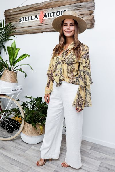 TV Presenter Lauren Phillips at the 2018 Portsea Polo wearing Keepsake the Label
