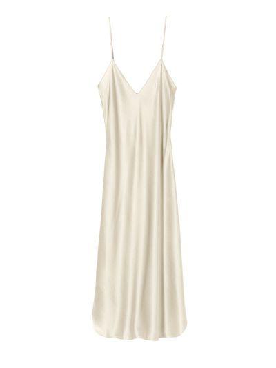 """<em><a href=""""https://www.modaoperandi.com/hensely-r18/shoulder-strap-column-dress"""" target=""""_blank"""">Hensely Shoulder Strap Column Dress $2,907</a></em>"""