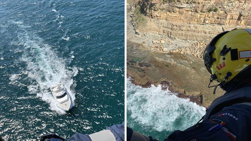 The Westpac Lifesaver 21 chopper winched the man from the water, but he was unable to be revived.
