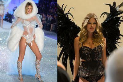 Dutch model Doutzen Kroes has been an Angel since 2008. Here's a sneak peek at her black wings this year.
