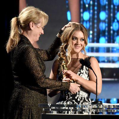 Billie Lourd and godmother Meryl Streep