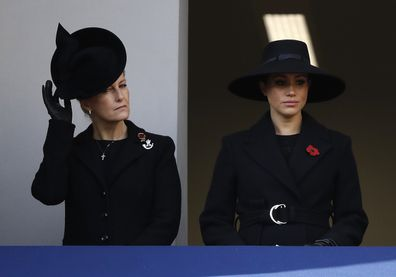 Meghan Sophie, Countess of Wessex attend the Remembrance Sunday ceremony at the Cenotaph in Whitehall.