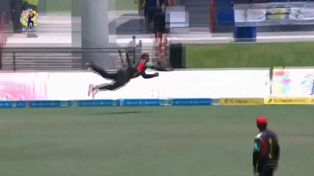Stunning catch in Caribbean Premier League.