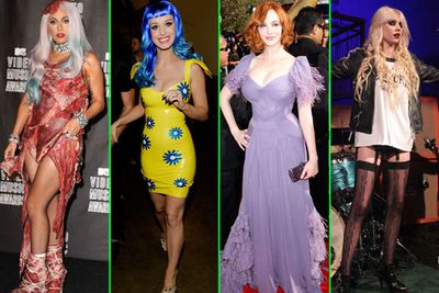 2010 will forever be remembered as the year <b>Lady Gaga</b> wore a dress made from raw meat, <b>Katy Perry</b> got about in stupid wigs, <b>Christina Hendricks</b> reminded Hollywood that curves are hot and 17-year-old <b>Taylor Momsen</b> pushed the fine line between rock chick and child porn with her pantsless image.<br/>