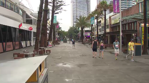 Parts of the Gold Coast remain a ghost town on week two of the Games. (9NEWS)