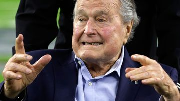 Former President George H.W. Bush allegedly grabbed a 16-year-old's buttocks in 2003 (AP Photo/Eric Gay, File).