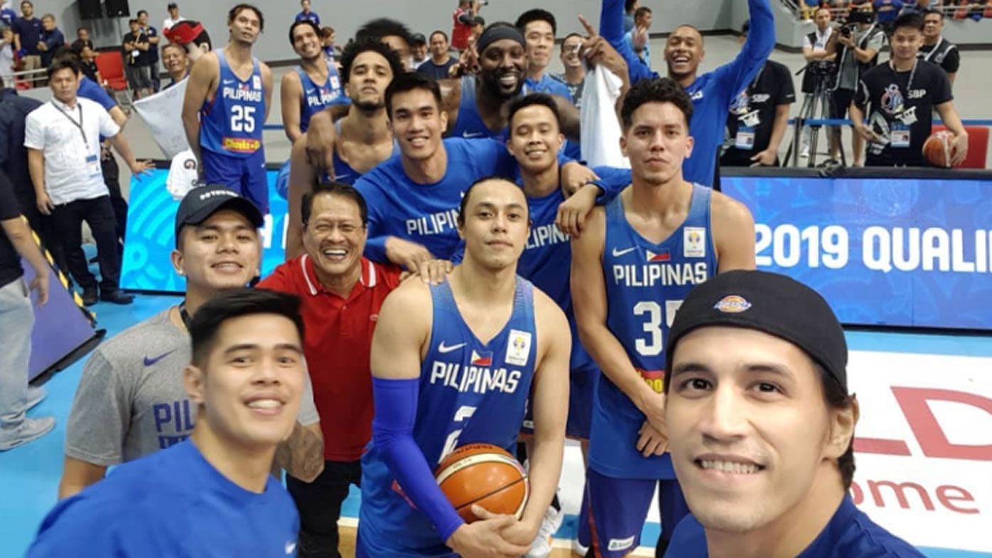 'Disgraceful' Philippines slammed for offensive selfie after Australian Boomers brawl